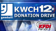 "<span style=""font-size: small;"">Thanks to the generosity of Kansans, KWCH and Goodwill will make a $20,000 donation to the tornado victims in Oklahoma.</span>"