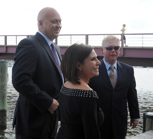 "Cal Ripken, Vera Murnane and Hal Murnane attended the Ripken Foundation's ""Art in Full Swing"" event at the Annapolis Yacht Club."