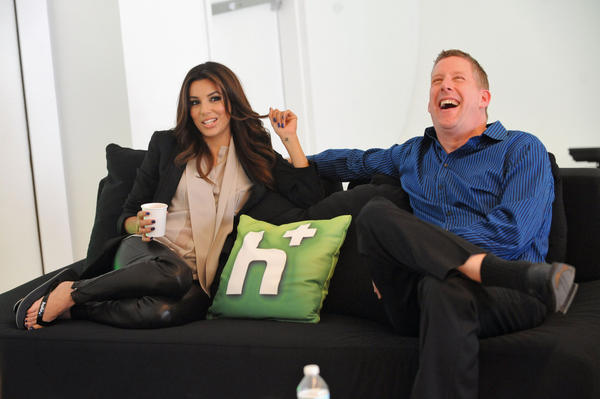 The prospective sale of Hulu has attracted interest from digital media players, as well as cable and satellite TV providers. Above, Eva Longoria and Michael Shipley appear at a Hulu event in New York City.