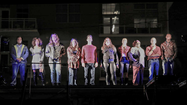 "Andrews Living Arts stages musical ""Rent"" outside"
