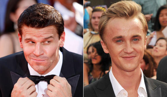 David Boreanaz, left, and Tom Felton will be in the cast of 'Full Circle'