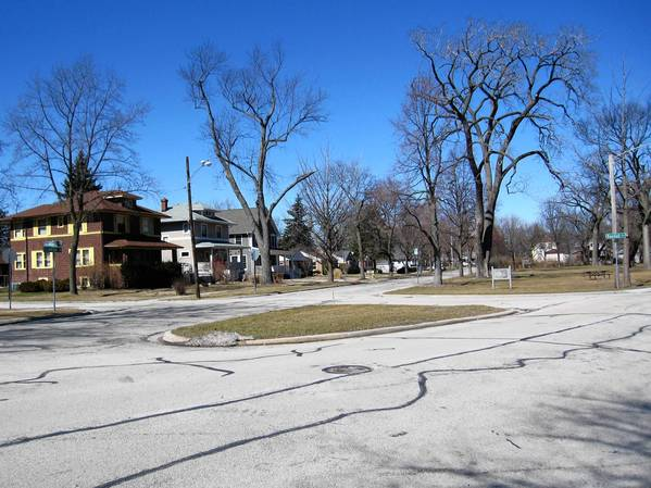 The intersection at Randall, Elmwood and Blodgett will be reconstructed this summer to make it safer for pedestrians.