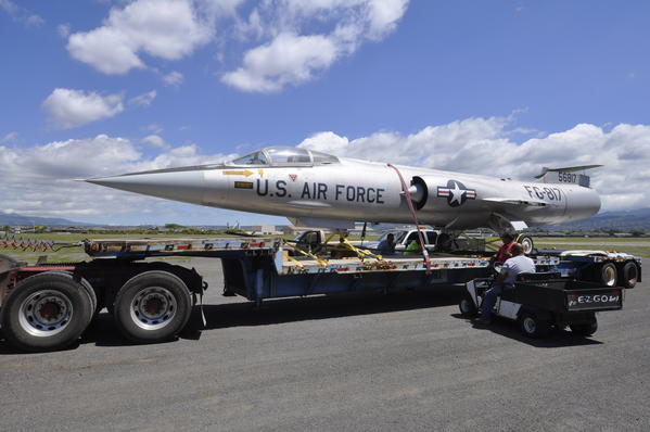 An F-104A Starfighter arrived on Oahu's Ford Island in early May, becoming the latest addition to the collection at the Pacific Aviation Museum.