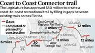 A paved bike trail stretching from coast to coast across the center of Florida can still get built despite Gov. Rick Scott's veto of $50 million for the project, state Sen. Andy Gardiner said Thursday.