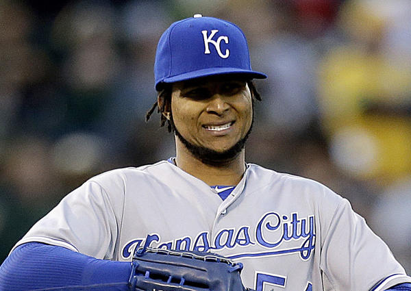 Ervin Santana is 3-3 with an ERA of 2.77 in his first season with the Kansas City Royals.