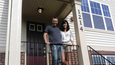 Couple take their cue from home's square footage