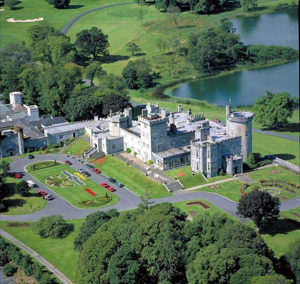 Dromoland Castle, on 375 acres, is one of Ireland's premier properties. It features riding, hunting and golf.