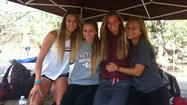 The Laguna Beach High girls¿ 4x400-meter relay team turned in the second-fastest time in program history at the CIF Southern Section Track and Field Division 4 finals Saturday at Mt. San Antonio College. From left: Coco Putnam, Natalie Kimball, Janie Crawford and Brielle Budroe.