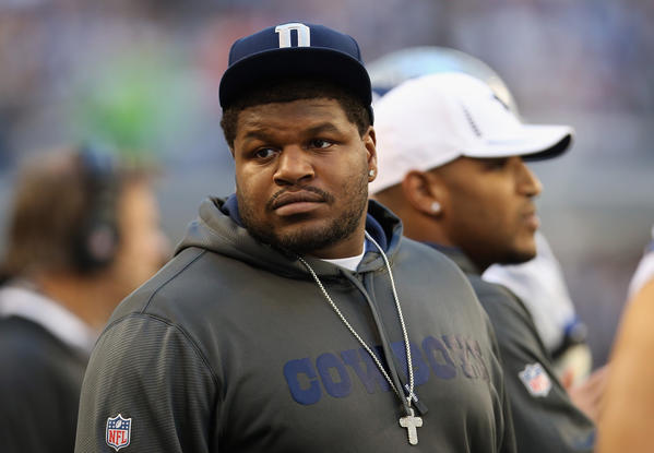 Josh Brent attends a Cowboys game against the Steelers at Cowboys Stadium.