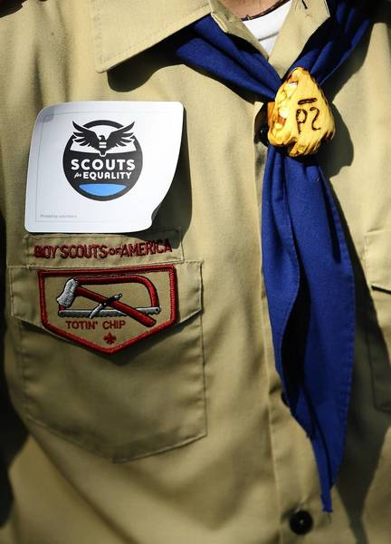 A member of Scouts for Equality.