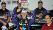 Denny Hamlin sets qualifying record at Charlotte
