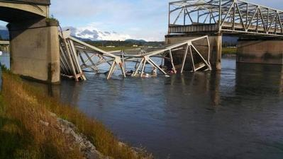 Truck crash may have caused Washington state bridge collapse