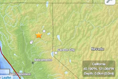 Earthquake hits Northern California