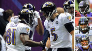The football rarely hit the ground, at least not when Joe Flacco was throwing and wide receivers Tandon Doss, Deonte Thompson and David Reed were the targets.