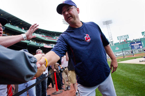 Cleveland Indians manager Terry Francona returns to Fenway Park for the first game since leaving the Red Sox in Boston, Massachusetts, May 23, 2013.