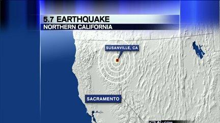Magnitude 5.7 Quake Jolts Northern California