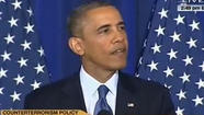 President Obama heckled during speech on drones, Gitmo