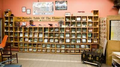 A hands-on periodic table of the elements is one of Raven Hill Discovery Centers exhibits.
