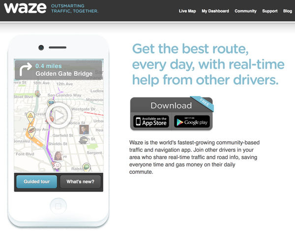 Waze, a popular social mapping app, is in talks with Google about a possible acquisition.