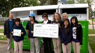 Students from Abbott Middle School in Elgin recycled more than 3,100 pounds of clothing during the month of April to take first prize in USAgain's seventh annual Earth Month Challenge contest.