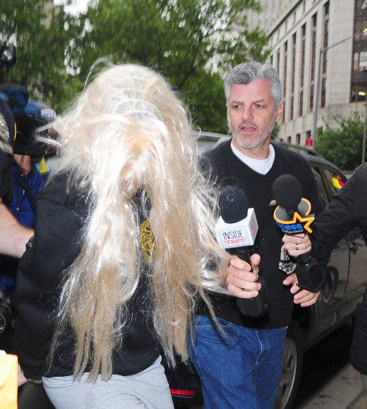 Actress Amanda Bynes departs Manhattan Central Booking after being arrested on May 23 2013.