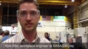 NASA engineer explains pilot-training chair built with student help
