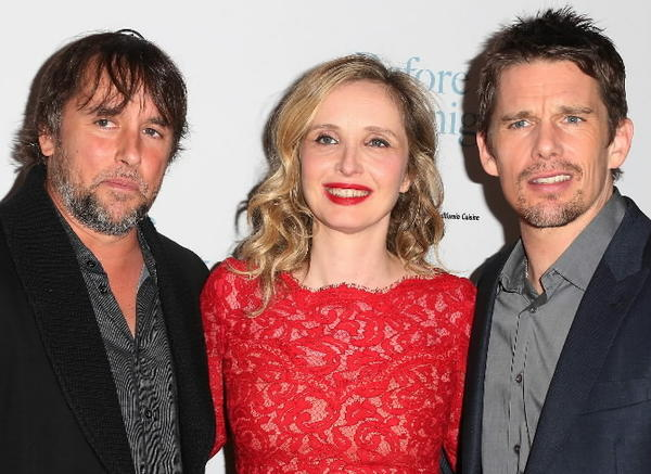 "Director Richard Linklater, actress Julie Delpy and actor Ethan Hawke attend the premiere of Sony Pictures Classics' ""Before Midnight"" in Los Angeles."