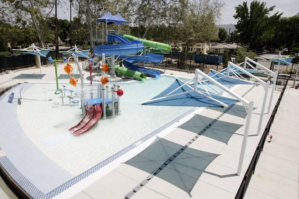 The Verdugo Aquatic Center was remodeled to include an Olympic-size pool and an activity area with slides.