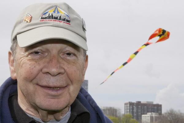 Bob Zavell, owner of Chicago Kites at the annual Kite Fair at Montrose Harbor on May 4.