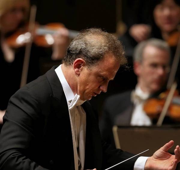 Conductor Carlos Miguel Prieto leads the Chicago Symphony Orchestra at Symphony Center in Chicago on Thursday.