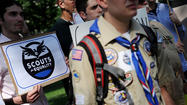 The Boy Scouts of America lifted a ban on openly gay youth Thursday, a change that will begin January of next year. A ban on gay Scout leaders remains in place.