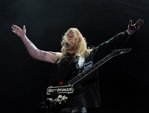 Jeff Hanneman, guitarist and co-founder of Los Angeles thrash metal band Slayer.
