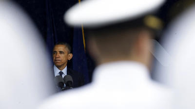 At Naval Academy commencement, Obama condemns military sexual assaults