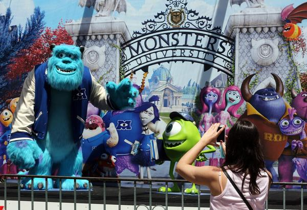 "A ""Monsters University"" display at a hotel in Cannes, France, before the start this month of the city's annual film festival."