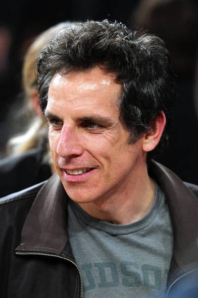 Ben Stiller talks with fans following game five of the first round of the 2013 NBA Playoffs between the New York Knicks and the Boston Celtics.