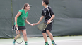 30-second timeout with Jenna Sweet and Scott Lee, Atholton tennis