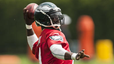Eagles QB Vick a hit in Atlantic City