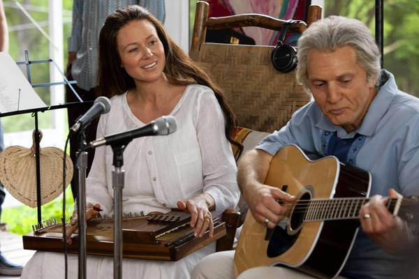 "Jewel (June Carter Cash) and Matt Ross (Johnny Cash) star in the Lifetime movie ""Ring of Fire."""