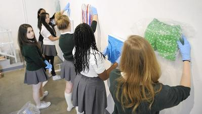 Teen curators learn the art of gallery management at girls' school