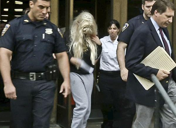 "Amanda Bynes was arrested Thursday night after she allegedly tossed a bong out of her Manhattan apartment window, police said. She was formally charged with attempted evidence tampering, reckless endangerment and marijuana possession on Friday. The ""What I Like About You"" star was reported to police after an employee at her apartment alleged that she was smoking marijuana in the building's lobby, acting erratically and supposedly talking to herself, according to reports. An officer went to Bynes' apartment then saw a bong -- a water pipe commonly used for smoking marijuana -- on her kitchen counter and when he asked her about it, the actress heaved it out of her window, according to the criminal complaint obtained by TMZ.  Bynes claimed that the alleged bong was ""just a vase."" She was eventually released without bail after appearing for her arraignment in a New York court on Friday morning. Her next court date was set for July 9 and the judge said that if she didn't appear a warrant would be put out for her arrest."