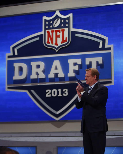 NFL commissioner Roger Goodell at the 2013 draft.