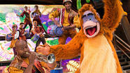 "King Louie from the ""Jungle Book"" in ""Mickey and the Magical Map"" at Disneyland's Fantasyland Theatre."