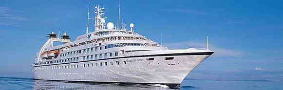 The Seabourn Spirit cruise ship sails from Port Everglades.