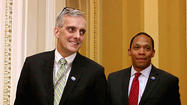 White House Chief of Staff Denis McDonough visited the Baltimore regional office of the U.S. Department of Veterans Affairs on Friday to discuss efforts to address the agency's persistent backlog of veterans disability claims.