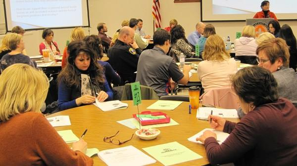 District 303 community members in March discuss mental health as part of the Summit D303 series.