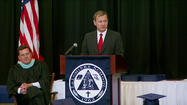 Chief Justice Roberts speaks at LaPorte alma mater