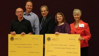 Greencastle Lions Club gives $180,000 to town library and park