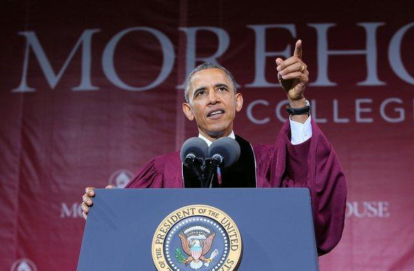 President Obama delivers the commencement address at Morehouse College in Atlanta, Ga.