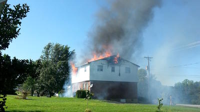 Duplex catches fire in Bedford County