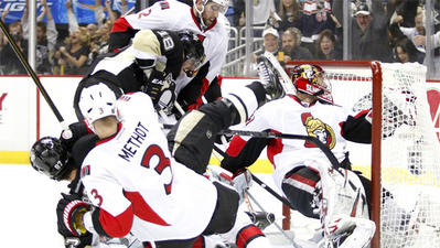James Neal's hat trick helps Penguins advance past Senators